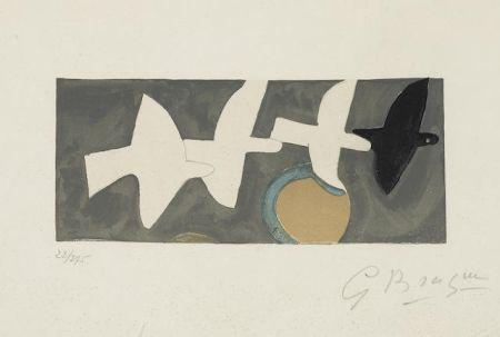 リトグラフ Braque - Quatre Oiseaux