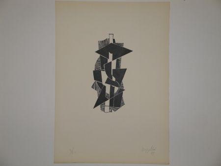 リノリウム彫版 Bozzolini - Quatre piraine