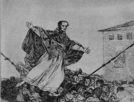 エッチングと アクチアント Goya - Que rompe al cueda