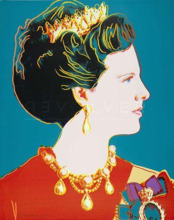 シルクスクリーン Warhol - Queen Margrethe Ii Of Denmark (Fs Ii.343)