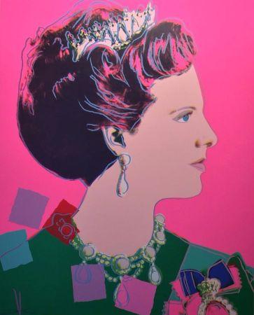 シルクスクリーン Warhol - Queen Margrethe II of Denmark (FS II.345)