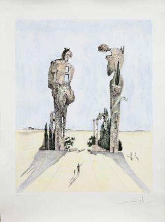 エッチング Dali - Réminiscence Archéologique de l'Angélus de Millet (1983)
