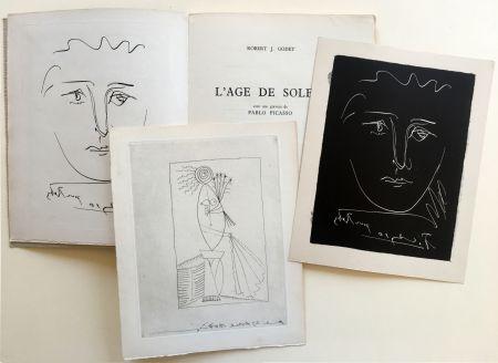 挿絵入り本 Picasso - R.-J. Godet : L'AGE DE SOLEIL. Gravures de Pablo Picasso (1950).