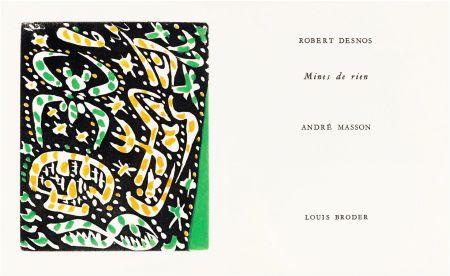 挿絵入り本 Masson - R. Desnos: MINES DE RIEN. 4 gravures originales en couleurs (1957).