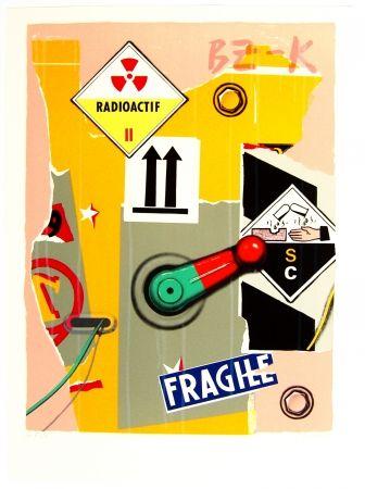 リトグラフ Klasen - Radioactif fragile