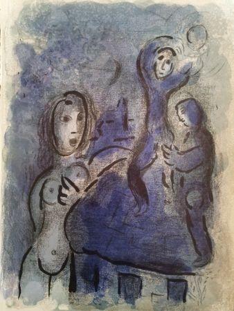 リトグラフ Chagall - Rahah et les espions de Jéricho
