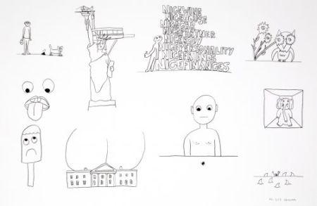 リトグラフ Breuning  - Random thoughts about life 1