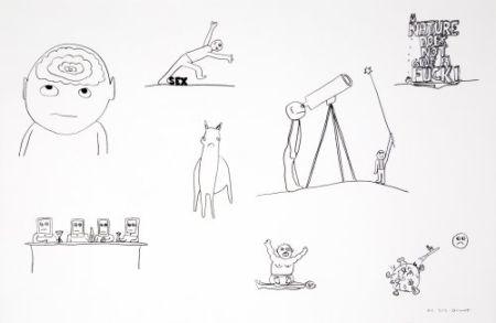 リトグラフ Breuning  - Random thoughts about life 2