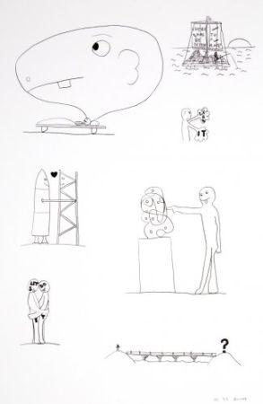 リトグラフ Breuning  - Random thoughts about life 3