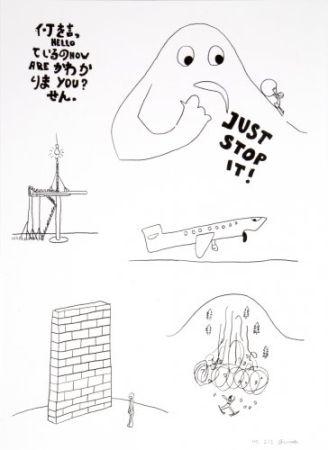 リトグラフ Breuning  - Random thoughts about life 5