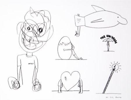 リトグラフ Breuning  - Random thoughts about life 8