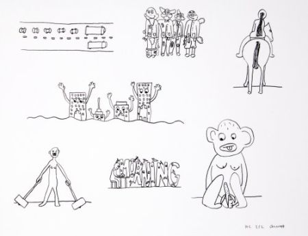 リトグラフ Breuning  - Random thoughts about life 9