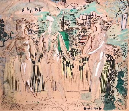 リトグラフ Dufy - Raoul DUFY- Les Trois Grâces
