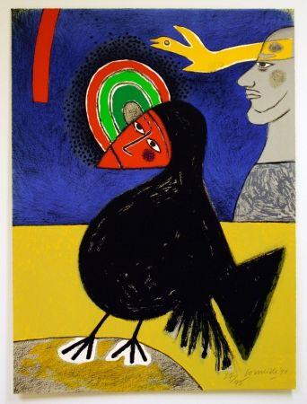 リトグラフ Corneille - Raven No. 3