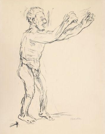 リトグラフ Kokoschka - Reaching Man