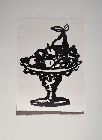 リノリウム彫版 Kentridge - Rebus Fruitbowl