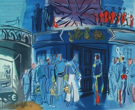 リトグラフ Dufy - Reception d'in amiral Anglais sur un bateua Francais