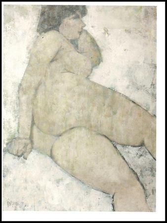 リトグラフ Portway - Reclining Nude
