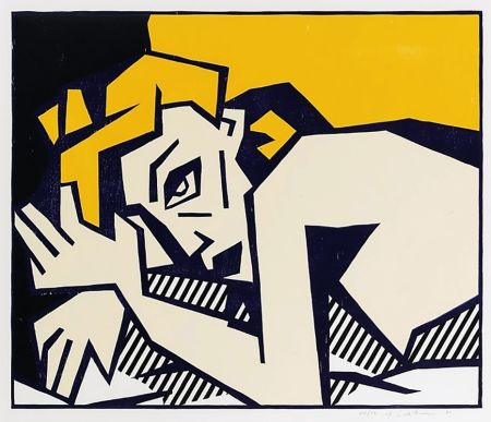 木版 Lichtenstein - Reclining Nude