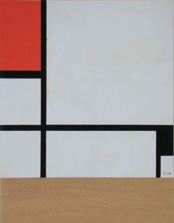 ステンシル Mondrian - Rectangular Composition