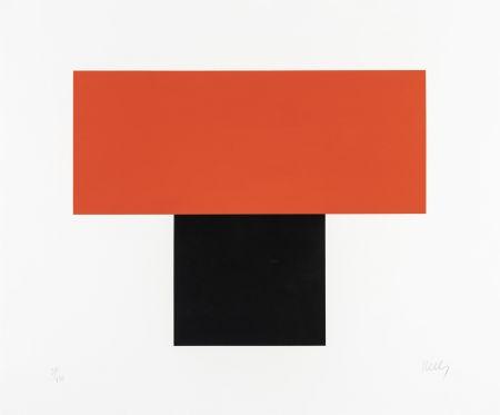 シルクスクリーン Kelly - Red-Orange over Black