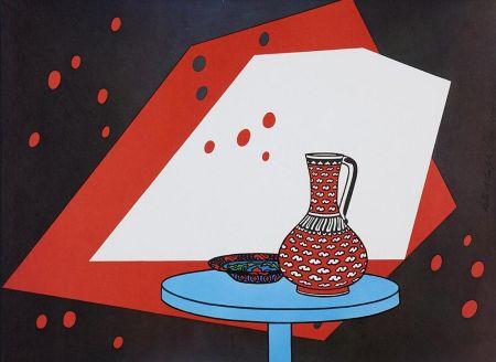 リトグラフ Caulfield - Red and White Still Life
