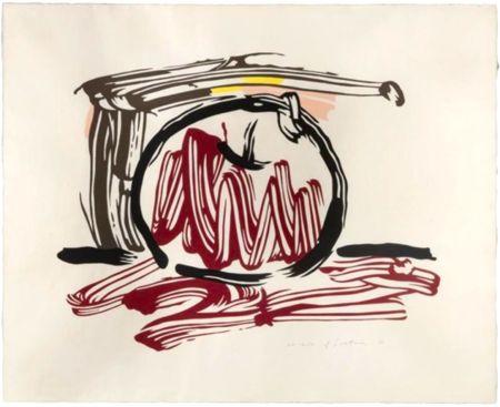 木版 Lichtenstein - Red Apple, from Seven Apple Woodcuts Series (C. 196)