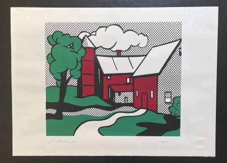 シルクスクリーン Lichtenstein -  Red Barn