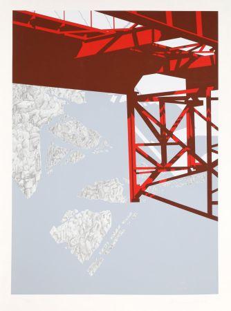 シルクスクリーン D'arcangelo - Red Bridge