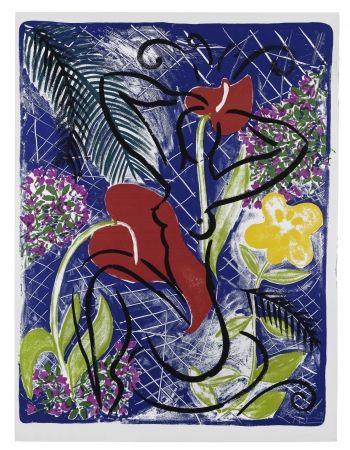 シルクスクリーン Szczesny - Red Flowers