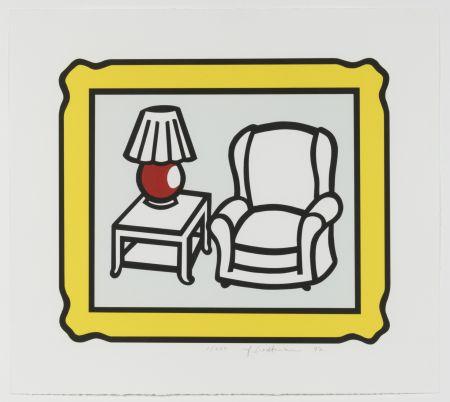 リトグラフ Lichtenstein - Red Lamp