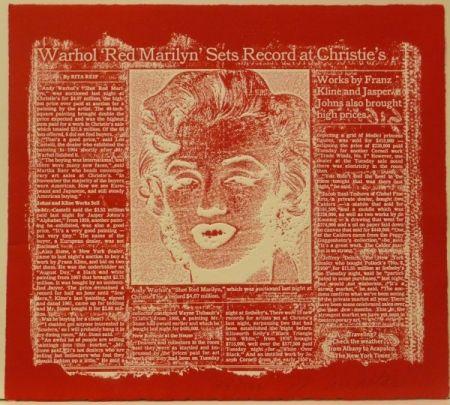 彫版 Anastasi - Red Marilyn