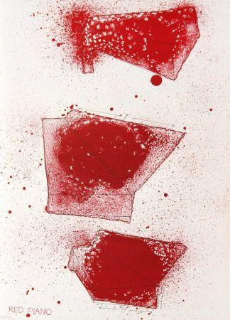 リトグラフ Dine - Red Piano