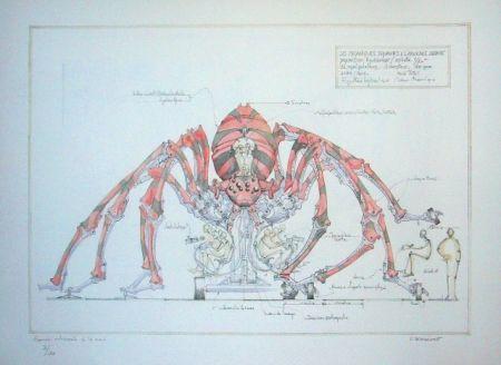 リトグラフ Delarozière - Red spider - la machine - Liverpool
