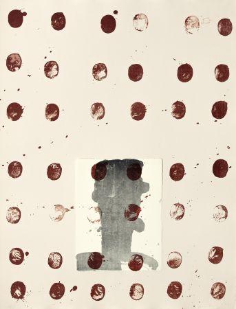 リトグラフ Brown - Red spots II