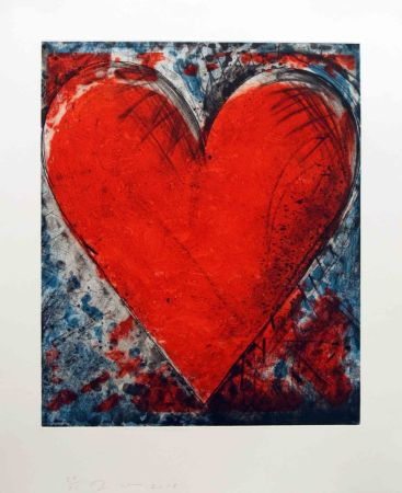 Collograph Dine - Red Stamp
