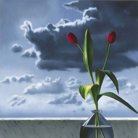 技術的なありません Cohen - Red Tulips Against Cloudy Sky
