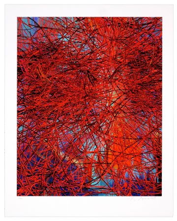 デジタル版画 Myrvold - Red Wires in Sunset