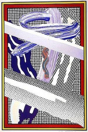 シルクスクリーン Lichtenstein - Reflections on an Expressionist Painting