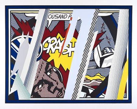 シルクスクリーン Lichtenstein - Reflections On Crash
