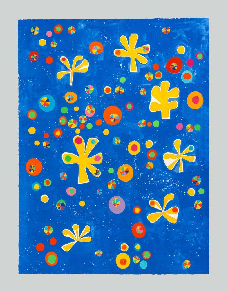 シルクスクリーン De Maria - Regno dei fiori universo senza bombe pax et bonum semper tecum