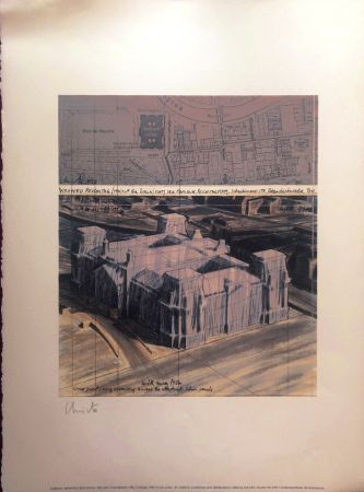 リトグラフ Christo - Reichstag Wrapped MACBA BARCELONA 56X76 CM