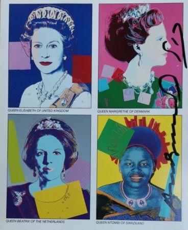 シルクスクリーン Warhol - Reigning Queens (invitation)