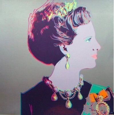 シルクスクリーン Warhol - Reigning Queens, Queen Margrethe II of Denmark