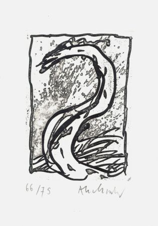 エッチング Alechinsky - '' Rein, comme si de rien ''