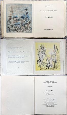 挿絵入り本 Zao - René Char : LES COMPAGNONS DANS LE JARDIN. 4 gravures originales en couleurs (1957)