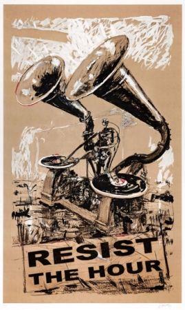 シルクスクリーン Kentridge - Resist The Hour