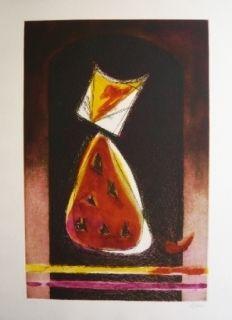 エッチングと アクチアント De Juan - Retrato de Luisito en forma de pera