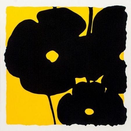 シルクスクリーン Sultan - Reversal Poppies-Yellow