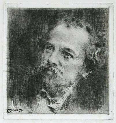 彫版 Conconi - RITRATTO DI TRANQUILLO CREMONA (Portrait of Tranquillo Cremona)